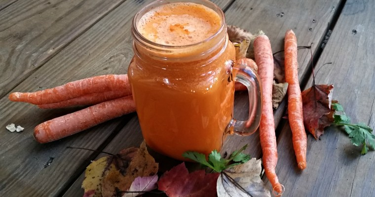 Carrot Milk with Fresh Carrot Juice and Coconut Milk