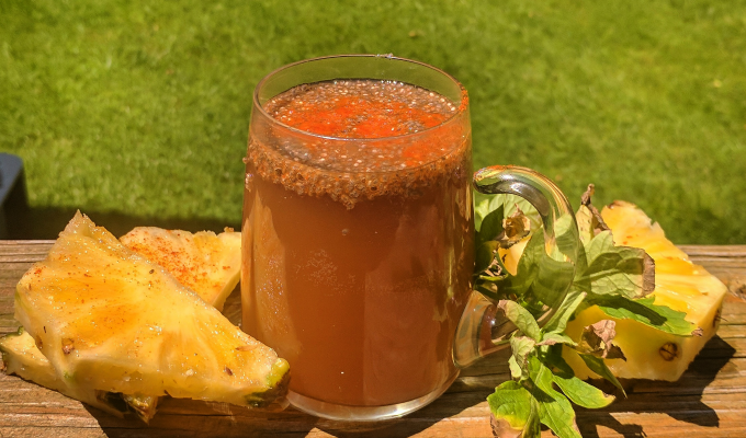 Boost Metabolism With Pineapple Ginger Cayenne Kombucha