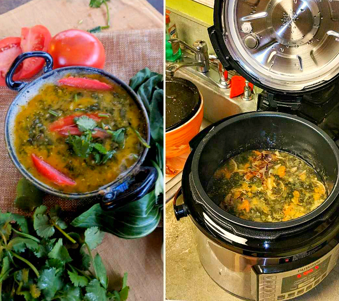 High Fiber Lentils With Spinach and Tomatoes Takes 20 minutes in the #Instapot