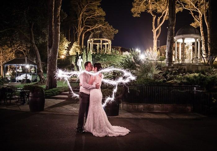 Rishpool Hall Saltburn Wedding sparkler photograph