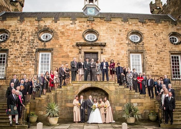 lumley-castle-wedding-group-photo