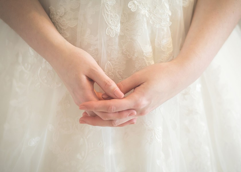 wedding bride hands