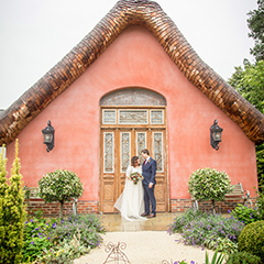 wedding photograph at le petit chateau otterburn