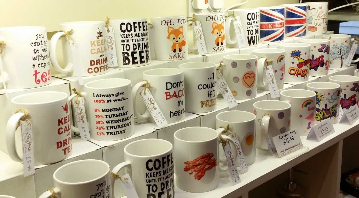printed mugs and personalised