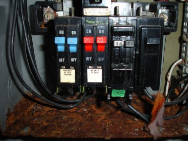 Water in fuse panel