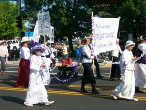 Suffrage float in Montana parade