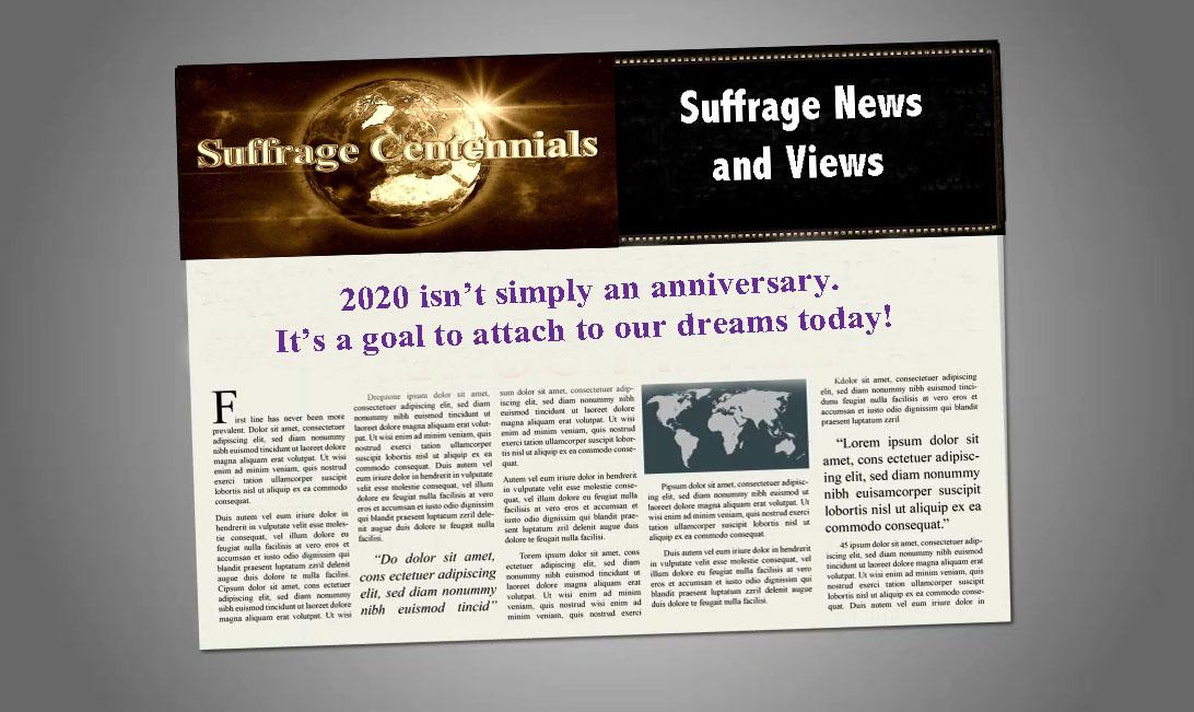 Suffrage Centennials com