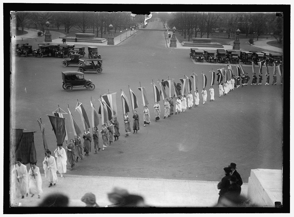 December 25, 1916. Memorial for Milholland in Washington, DC