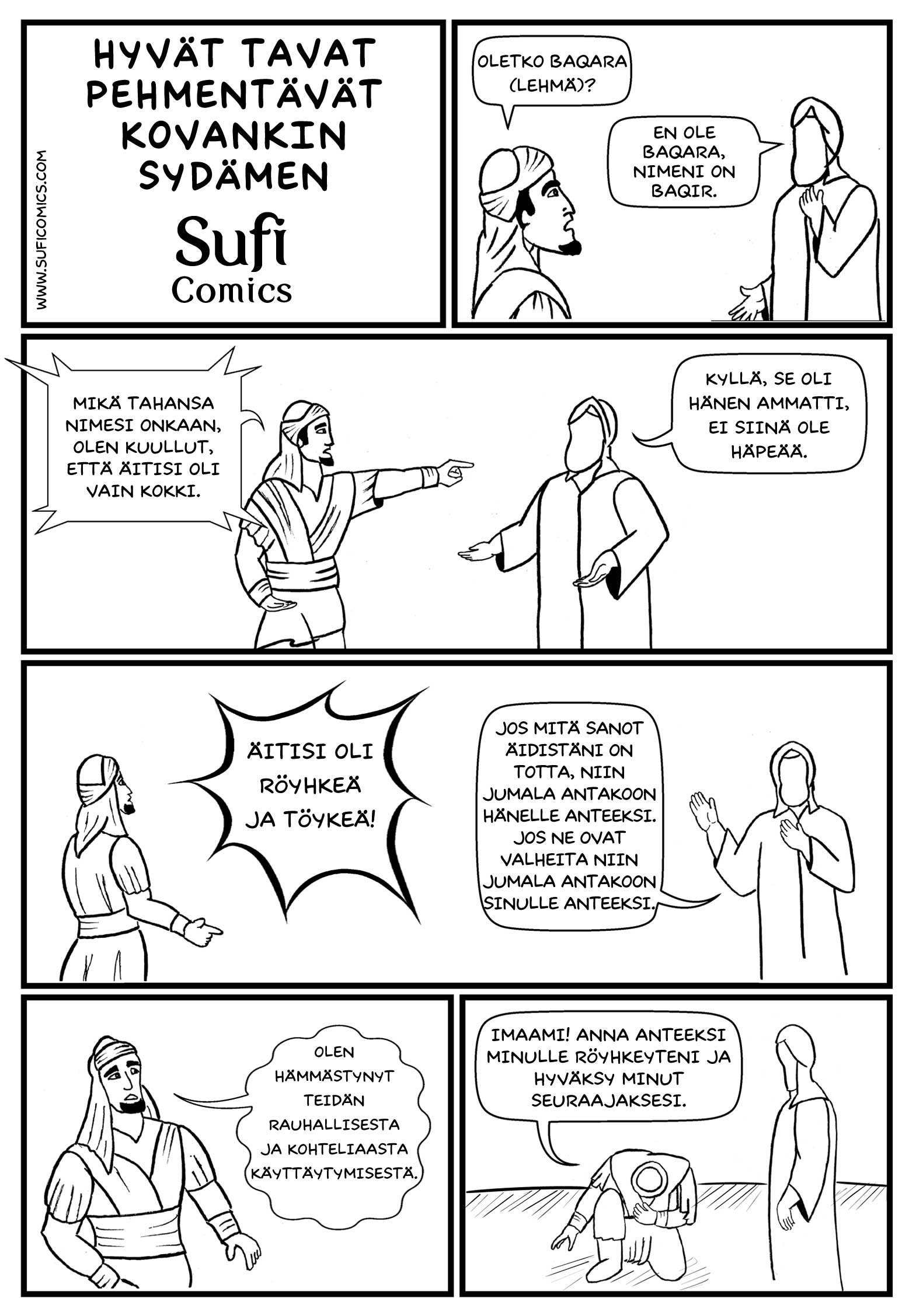 Sufi Comics In Finnish Good Manners Melt A Hard Heart
