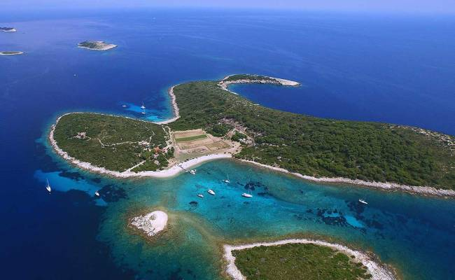 The Turquoise Lagoon Of Budikovac Island
