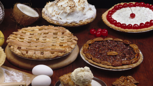 Pies on the table