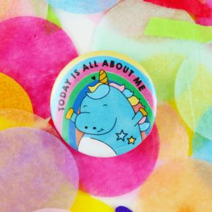 cute unicorn birthday badge