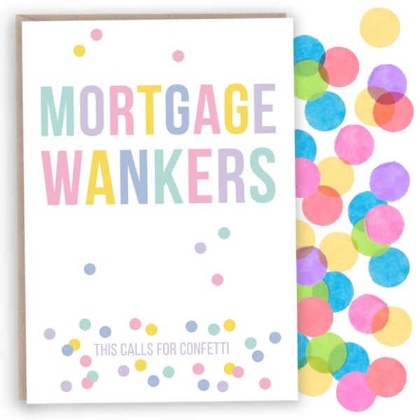 confetti Mortgage wanker card