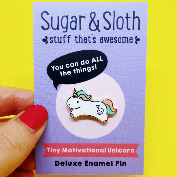 unicorn Motivational Pin