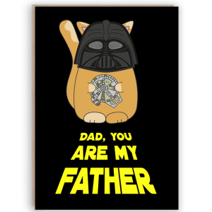 funny star wars fathers day card
