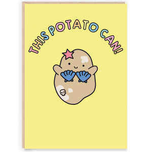 This potato can cute congratulations card