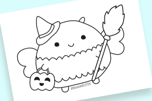 boo bees colouring sheet