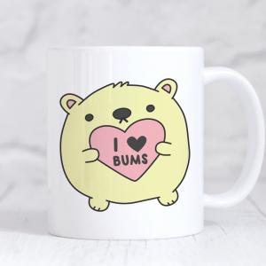 I Heart Bums Valentine's Mug