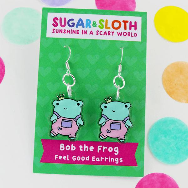 bob the frog earrings