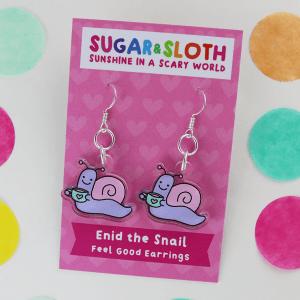 enid the snail earrings