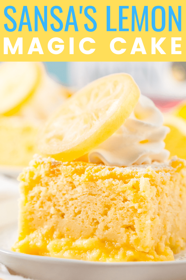 Inspired by Sansa's favorite dessert in Game of Thrones, these Lemon Cakes are a delicious and zesty magic cake that separates into different textured layers as it bakes!