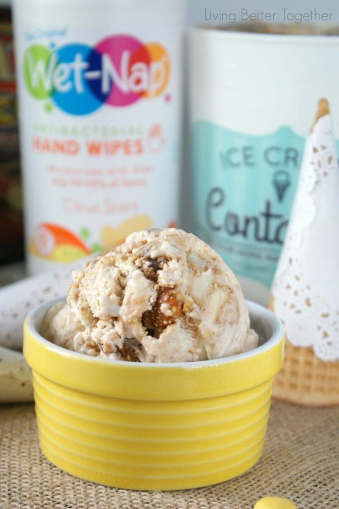 Banoffee Pie Ice Cream | Living Better Together #PMedia #showusyourmess #ad