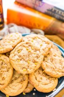 These Harry Potter inspired Butterbeer Cookies are a sweet old-fashioned blend of vanilla and butterscotch loaded up with toffee bits. Baked to perfection with a soft chewy center and lightly crisp edges, they won't last long!