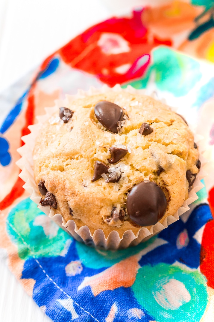 One Chocolate Chip Cookie Muffin