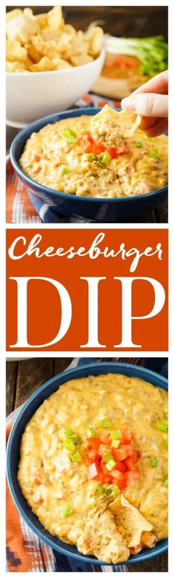 This Cheeseburger Dip tastes just like a Cheeseburger, making it the ultimate game day dip everyone will love!