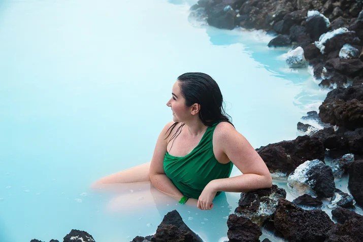 Woman at Blue Lagoon in Iceland
