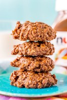 Nutella No Bake Cookies are a yummy way to enjoy the chocolate and hazelnut flavors of everyone's favorite spread! Made with oatmeal, butter, sugar, milk, vanilla, and Nutella, this recipe is as easy to make as it is delicious!