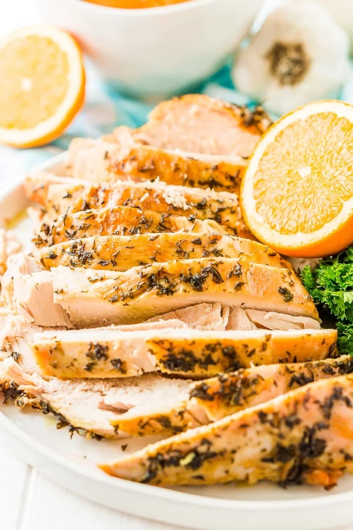 This Turkey Brine recipe made with salt, oranges, bay leaves,cinnamon, brown sugar, and black pepper will add moisture, tenderness, and flavor to your turkey. Brine turkey for 12 to 24 hours for the most amazing turkey for your holiday gathering!