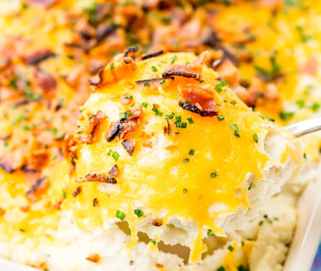 Loaded Cauliflower Casserole Is An Easy And Delicious Low Carb And Keto Friendly Side Dish