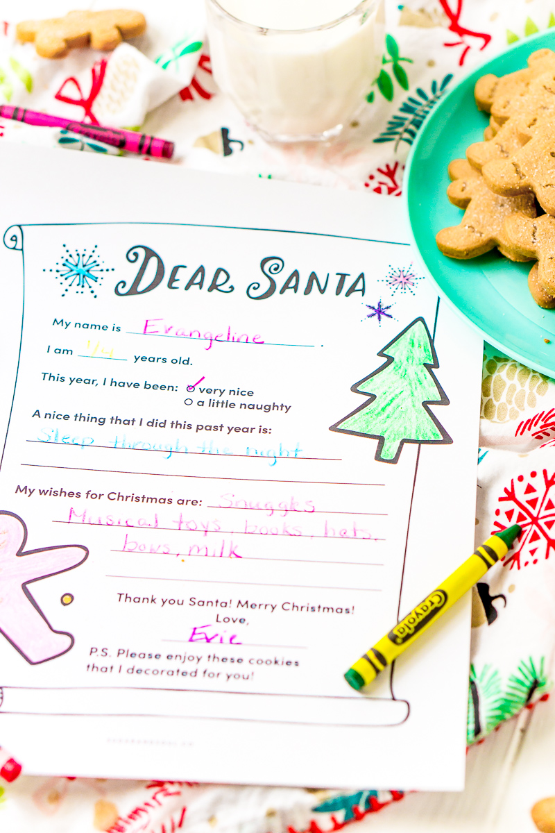 This Free Printable Letter To Santa doubles as a coloring page and makes each child's letter to the North Pole fun and unique!