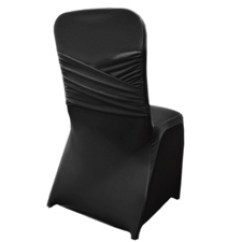 Wedding Chair Covers Hire Prices Mahogany Dining Room Table And 8 Chairs Cover Black Lycra Price 4 00 Gst
