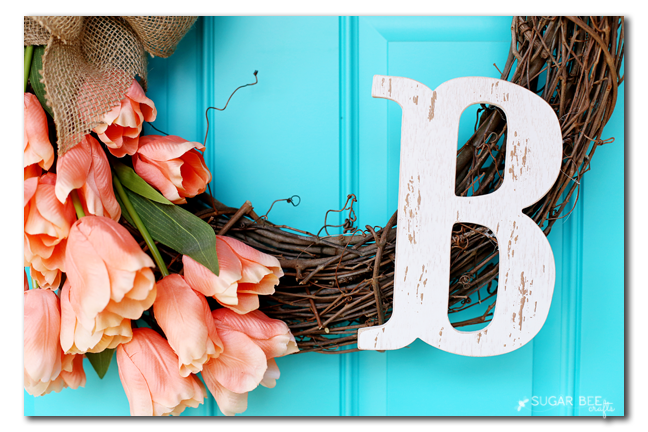 distressed monogram wreath