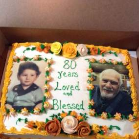 A new sheet cake 80 years