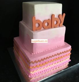 Baby Pink and Orange side view