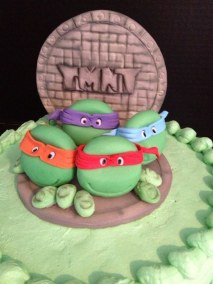 Fondant 3D Ninja Turtlets Close Up