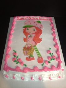 Sugarpaste Strawberry Shortcake