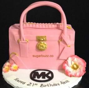 A pink purse
