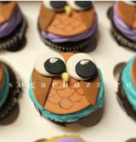 2 web owl cupcake w