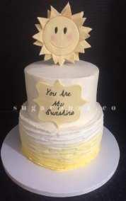 A sunshine tier cake