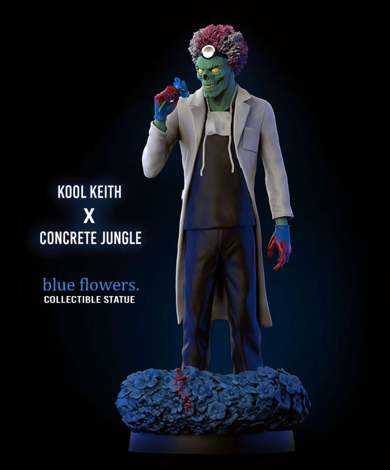 Keith's twisted sense of humor and nonsensical lyrics combined with his. Kool Keith x Concrete Jungle - BLUE FLOWERS - Resin Figure
