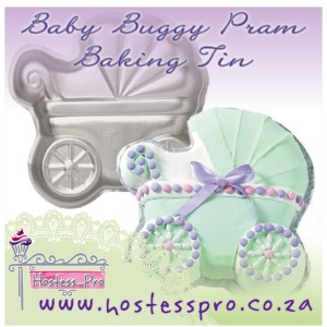 Baby Buggy Pram Baking Tin