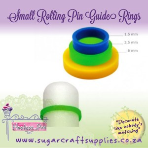 Small Rolling Pin Guide Rings - Set of 3