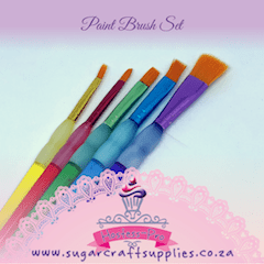 Paint Brush Set of 5 with Grip