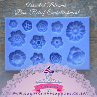Assorted Blooms – Bas-Relief Embellishment
