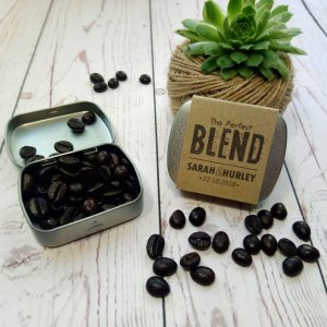 Coffee Metal Tin Wedding Favour The Perfect Blend craft card italian blend coffee
