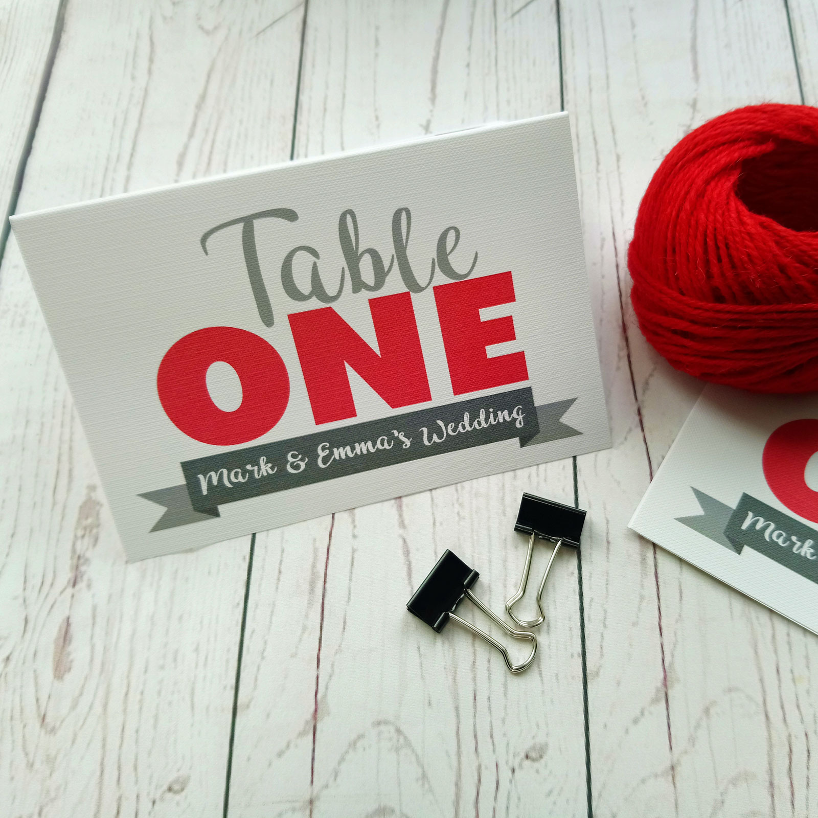 Lovers Bike Love heart Table Number table one with grey banner